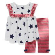 Marmellata Sleeveless Star Dress Set - Baby Girls 3m-24m