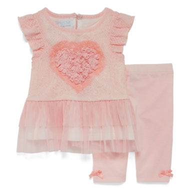 jcpenney.com | Marmellata Sleeveless Heart Dress Set - Baby Girls 3m-24m