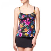 Jamaica Bay® Heritage Park Floral Peasant Tankini Swim Top or Slit Skirted Swim Bottoms