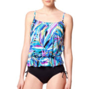 Jamaica Bay® Dreamy Palms Blouson Tankini Swim Top or Adjustable-Leg Brief Swim Bottoms