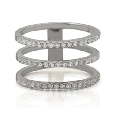 jcpenney.com | Cubic Zirconia Triple-Row Sterling Silver Ring