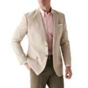 Stafford® Linen-Cotton Sport Coat  - Classic