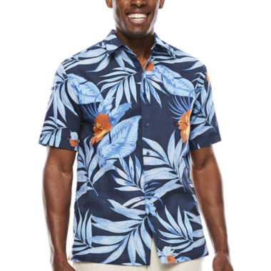jcpenney.com | The Havanera Co.® Short-Sleeve Allover Tropical Print Shirt