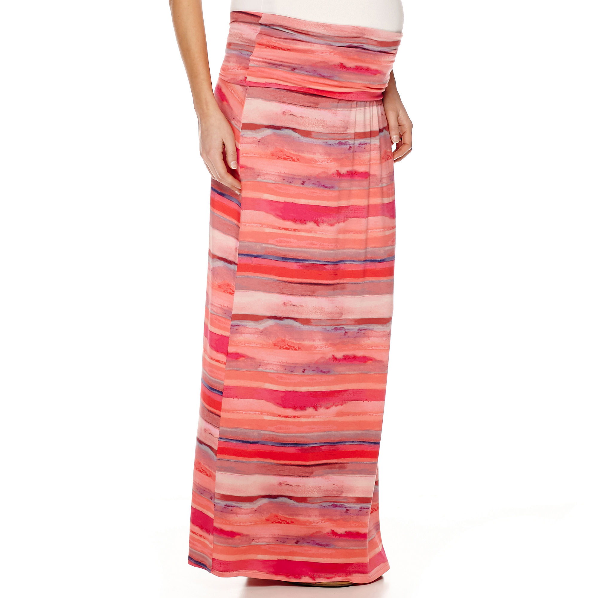 a.n.a Maternity Relaxed-Fit Foldover Maxi Skirt-Plus plus size,  plus size fashion plus size appare