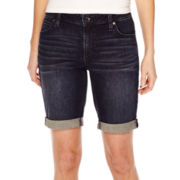 a.n.a® Cuffed Denim Bermuda Shorts - Tall