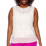 Worthington® Chiffon Tank Top - Plus
