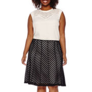 Worthington® Contrast Yoke Knit Tank or Spliced Flare Skirt - Plus