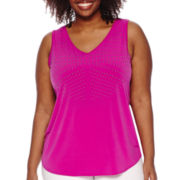 Worthington® Drape-Back Tank Top - Plus
