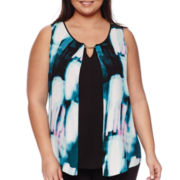 Worthington® Sleeveless Blouse - Plus