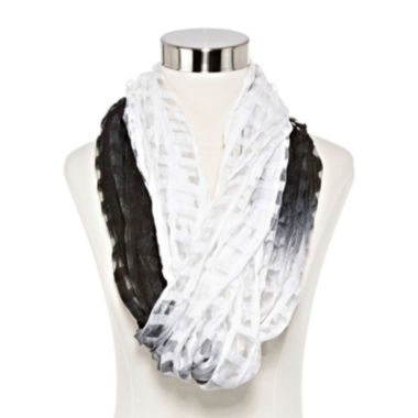jcpenney.com | Studio 36 Check-Me-Out Loop Neck Scarf