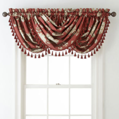 jcpenney.com | Home Expressions™ Isabelli Faux Silk Rod-Pocket Waterfall Valance