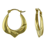 Small Round Hoop Earrings 10K Gold