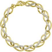 14K Gold-Plated Sterling Diamond-Accent Infinity Link Bracelet
