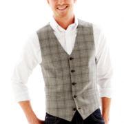 JF J. Ferrar® Gray Plaid Vest