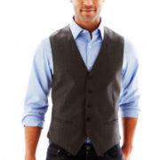 Claiborne® Gray Twill Vest