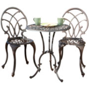 Charleston 3-pc. Cast Aluminum Outdoor Bistro Set