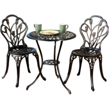 jcpenney.com | Nassau 3-pc. Outdoor Cast Aluminum Bistro Set