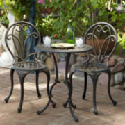 Thomas 3-pc. Cast Aluminum Outdoor Bistro Set