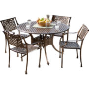 Sebastian 5-pc. Outdoor Cast Aluminum Dining Set