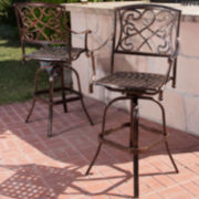 Santa Maria Set of 2 Outdoor Iron Barstools
