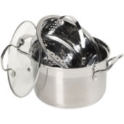 CLOSEOUT! Bella™ 4-qt. Stainless Steel Personal Multi Stock Pot