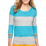 jcp™ Striped Sweater - Petite