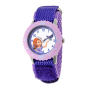 Disney Sofia Kids Time Teacher Purple Fast Strap Watch