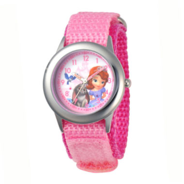 jcpenney.com | Disney Sofia Kids Time Teacher Pink Fast Strap Watch