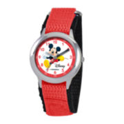 Disney Time Teacher Mickey Mouse Kids Red Watch