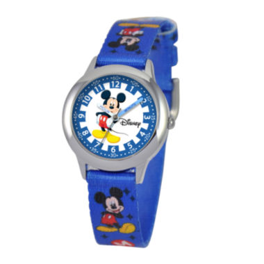jcpenney.com | Disney Time Teacher Mickey Mouse Kids Blue Watch