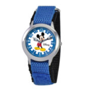 Disney Articulating Mickey Mouse Kids Time Teacher Blue Watch