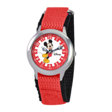 jcpenney.com | Disney Articulating Mickey Mouse Kids Time Teacher Red Watch