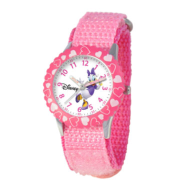 jcpenney.com | Disney Time Teacher Daffy Duck Kids Pink Fast Strap Watch