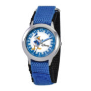 Disney Time Teacher Donald Duck Kids Blue Fast Strap Watch