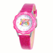 Disney Princesses Glitz Tween Pink Leather Strap Watch