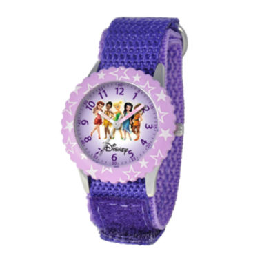 jcpenney.com | Disney Fairy Princesses Kids Time Teacher Purple Strap Watch