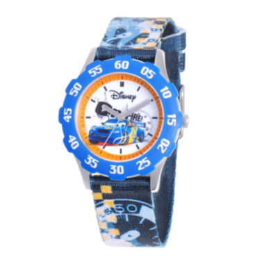 jcpenney.com | Disney Cars Tween Blue Strap Watch