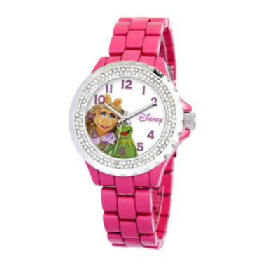 jcpenney.com | Disney Muppets Womens Pink Enamel Watch with Crystals