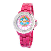 Disney Garfield Womens Pink Enamel Watch with Crystals