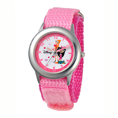 Disney Candace and Isabella Kids Time Teacher Pink Strap Watch