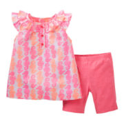 Carter's® 2-pc. Seahorse Top and Short Set - Girls 2t-4t