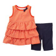 Carter's® 2-pc. Ruffled Top and Short Set - Girls 2t-4t