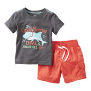 Carter's® 2-pc. Short-Sleeve Tee and Short Set - Boys 2t-4t