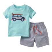 Carter's® 2-pc. Surfboard Tee and Short Set - Boys 2t-4t