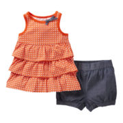 Carter's® 2-pc. Ruffled Top and Short Set - Girls newborn-24m