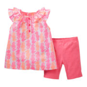 Carter's® 2-pc. Seahorse Top and Short Set - Girls newborn-24m