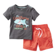 Carter's® 2-pc. Short-Sleeve Tee and Short Set - Boys newborn-24m
