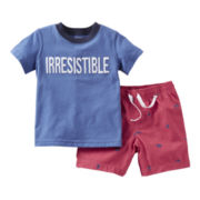 Carter's® 2-pc. Tee and Short Set - Boys newborn-24m