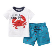Carter's® Crab Short Set - Boys newborn-24m