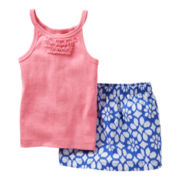 Carter's® Ruffled Tank and Skort Set - Girls newborn-24m